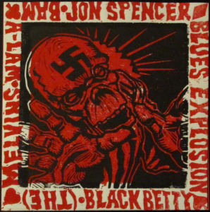 The Jon Spencer Blues Explosion / Melvins – Black Betty (Plate 03) [Tri-Color] (7″, US) - Cover