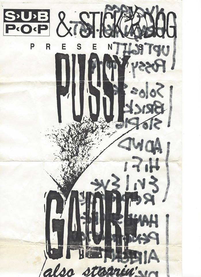 Pussy Galore – Vogue, Seattle, US (24 October 1987) - front
