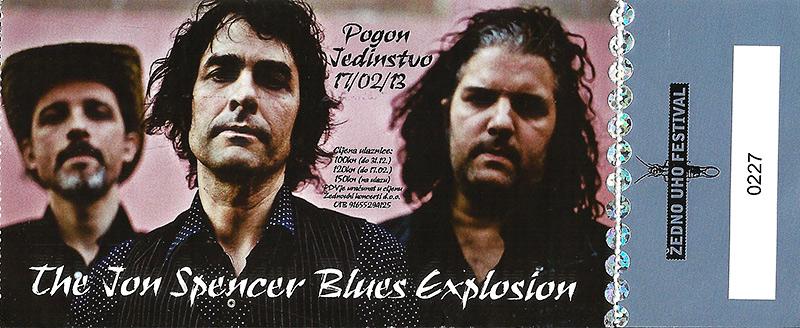 The Jon Spencer Blues Explosion - Pogon Jedinstvo, Zagreb, Croatia (17 February 2013)