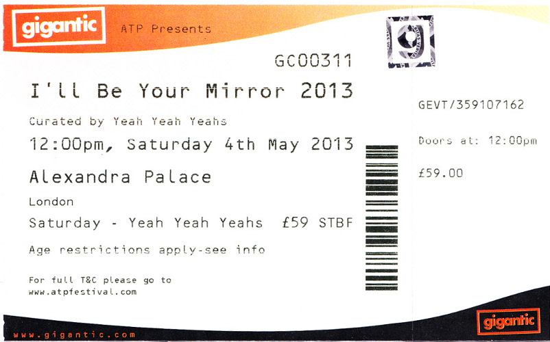 The Jon Spencer Blues Explosion - I'll Be Your Mirror, Alexandra Palace, London, UK (4 May 2013)