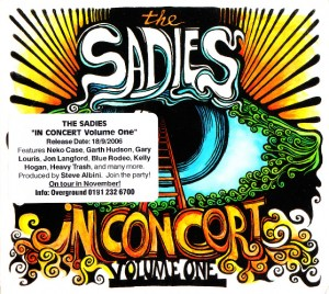 The Sadies - In Concert Volume One (2xCD, US) - Cover