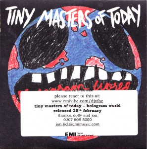 Tiny Masters of Today - Hologram World [Promo] (CD, UK) - Cover