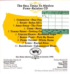 V/A feat. Pussy Galore - The Sell Texas To Mexico Fund-Raising CD (CD, US)  - Cover