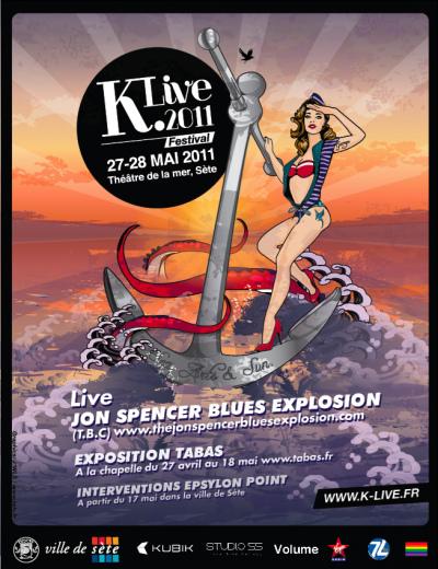 Jon Spencer Blues Explosion at Festival K Live, Théâtre de la mer, Route de la Corniche, 34200 Sète, France (27 May 2011)
