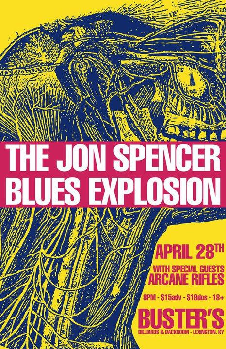 Jon Spencer Blues Explosion - Buster's Billiards & Backroom, Lexington, KY (28 April 2011)