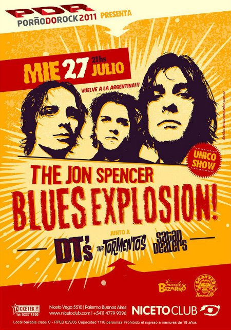 The Jon Spencer Blues Explosion - Niceto Club, Buenos Aires, Argentina (27 July 2011)