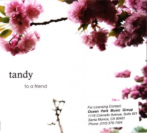 Tandy - To A Friend (CD, US) - Cover
