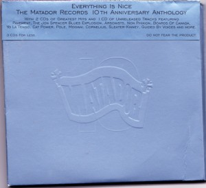 V/A feat. Jon Spencer Blues Explosion - Everything Is Nice (3xCD, US) - Front
