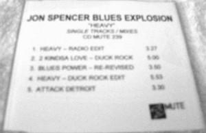 The Jon Spencer Blues Explosion - Heavy [Promo] (CD, UK)