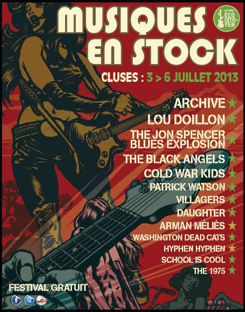The Jon Spencer Blues Explosion - Musique En Stock, Cluses, France (6 July 2013)