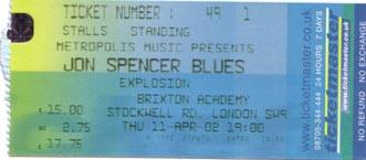 The Jon Spencer Blues Explosion - Brixton Academy, London, UK (11 April 2002)