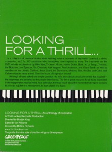 V/A feat. Jon Spencer - Looking For a Thrill An Anthology of Inspiration (DVD, US) - Rear
