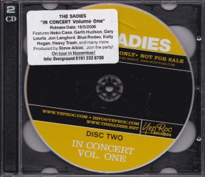 The Sadies - In Concert Volume One [Promo] (2xCD, US) - Front