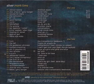 V/A feat. Jon Spencer with Solex / Russell Simins with Alec Empire - Silver Monk Time: A Tribute To The Monks (2xCD, GERMANY) - Rear