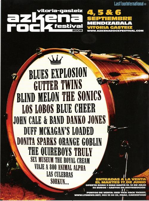 Jon Spencer Blues Explosion - Azkena Rock Festival, Vitoria-Gasteiz, Spain (4/5/6 September 2008)