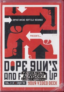 V/A feat. Boss Hog - Dope, Guns and Fucking Up Your Video Deck Vol. 1 - 3: 1990 - 94 (DVD, US)  - Cover