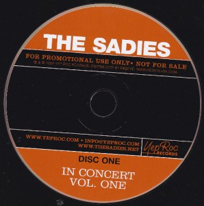 The Sadies - In Concert Volume One [Promo] (2xCD, US) - Disc 1