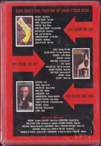 V/A feat. Boss Hog - Dope, Guns and Fucking Up Your Video Deck Vol. 1 - 3: 1990 - 94 (DVD, US) - Card Insert