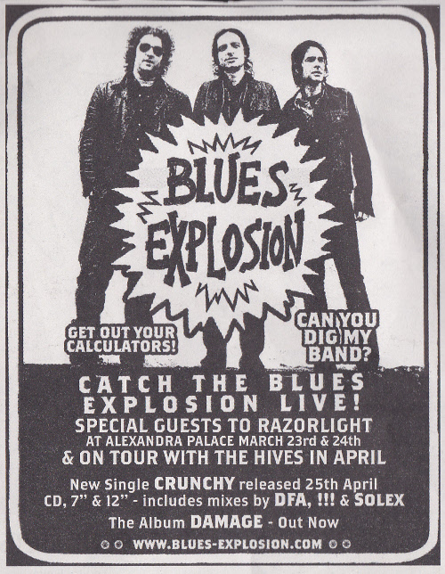 Jon Spencer Blues Explosion - Alexandra Palace, London, UK (23 / 24 March 2005)