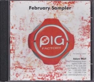 V/A feat. Solex vs Cristina Martinez + Jon Spencer - Pig Factory: February Sampler [Promo] (CD, US) - Cover