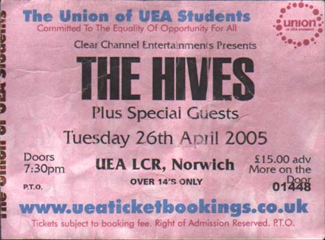 Blues Explosion - UEA LCR, Norwich, UK (26 April 2005)