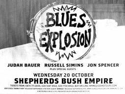 Blues Explosion - Shepherds Bush Empire, London, UK (20 October 2004) - Poster