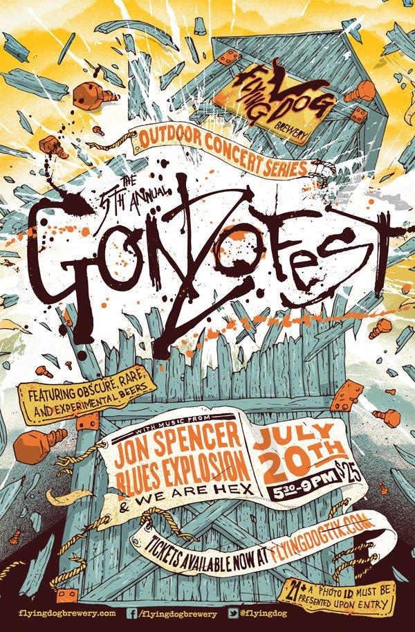 Jon Spencer Blues Explosion - Gonzofest, Flying Dog Brewery, Frederick, MD, United States (20 July 2013)