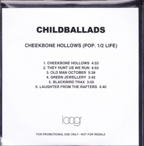 Childballads - Cheekbone Hollows (Pop. 1/2 Life) [Promo] (CD, UK) - Cover