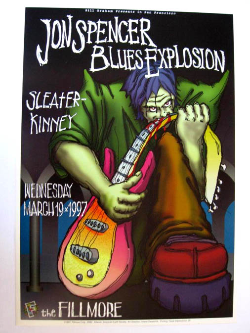 Jon Spencer Blues Explosion - The Fillmore, San Francisco, California, US (19 March 1997)