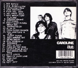 Pussy Galore - Corpse Love (CD, UK) - Rear