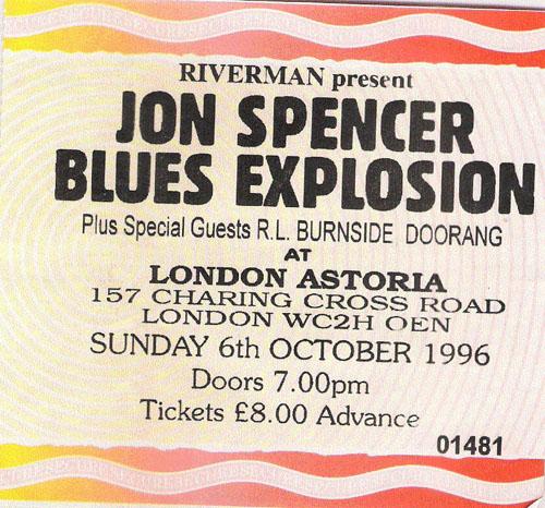 Jon Spencer Blues Explosion - London Astoria, London, UK (6 October 1996)