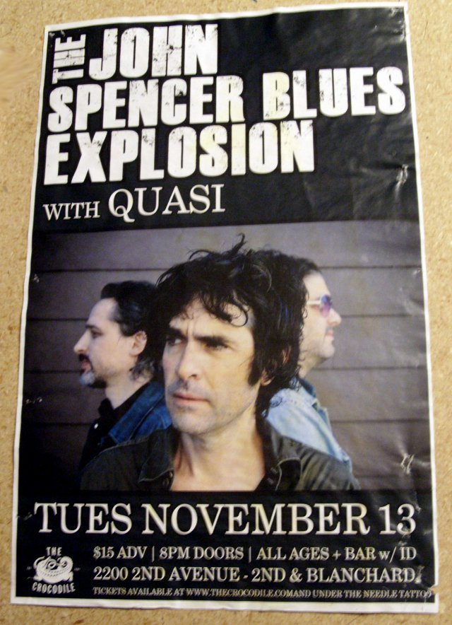 The Jon Spencer Blues Explosion - Crocodile, Seattle, US (13 November 2012)