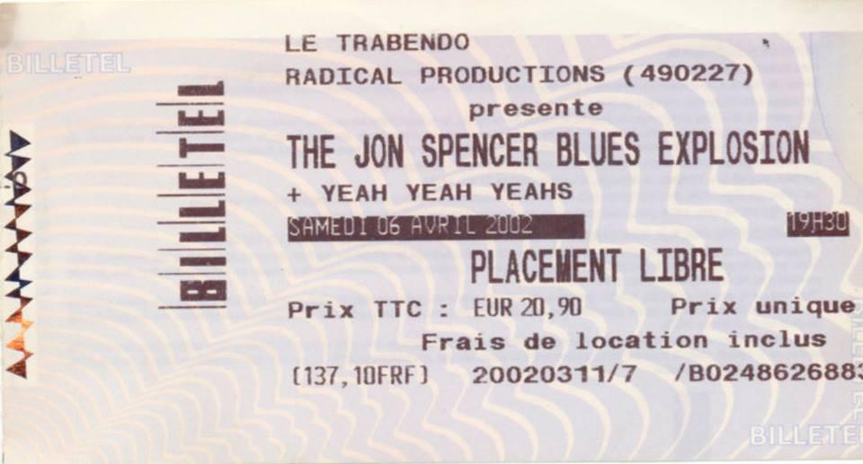 Jon Spencer Blues Explosion – Le Trabendo, Parc de la Villette, Paris, France (6 April 2002)