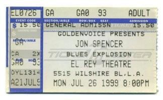 Jon Spencer Blues Explosion - El Rey Theatre, Hollywood, LA, US (26 July 1999)