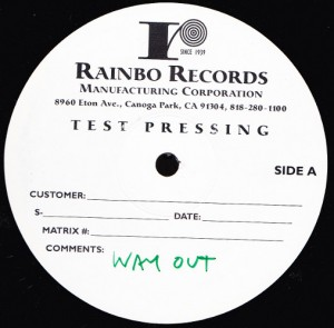 Heavy Trash - Going Way Out With Heavy Trash  [Test Pressing] (2xLP, US) - Label - Side A