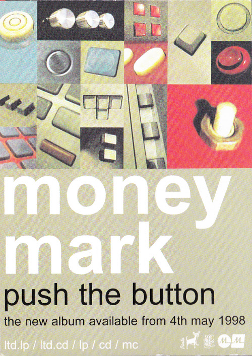 Money Mark - Push The Button / Maybe I'm Dead (POSTCARD, UK)