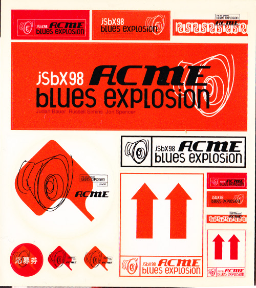The Jon Spencer Blues Explosion - Acme (STICKERS, JAPAN)