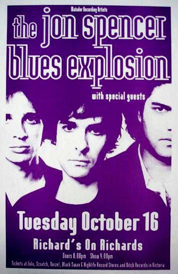 Jon Spencer Blues Explosion - Richard's on Richards, Vancouver, B.C., Canada (16 October 2001)