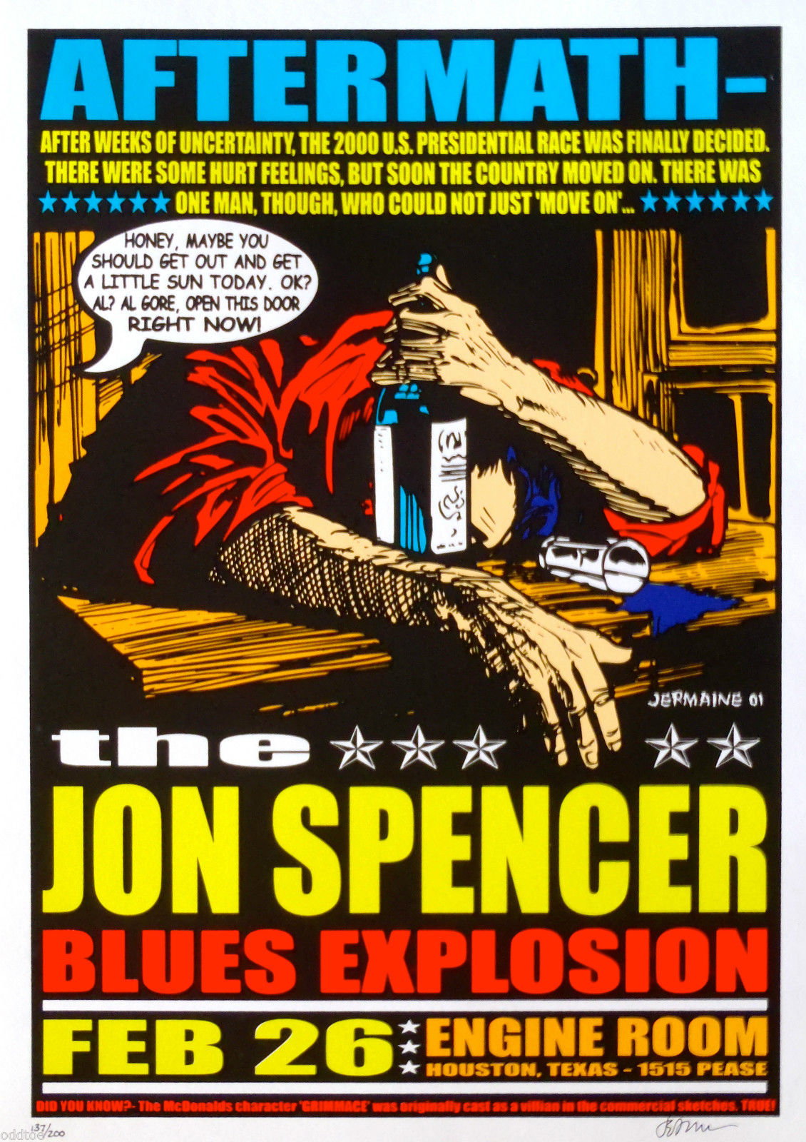 The Jon Spencer Blues Explosion - Engine Room, Houston, TX, US (26 February 2001)