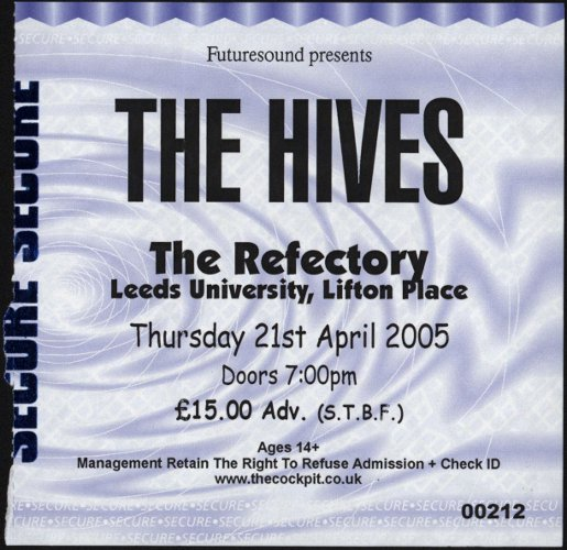 Blues Explosion - The Refrectory, Leeds University, Clifton Place, Leeds, UK (21 April 2005)