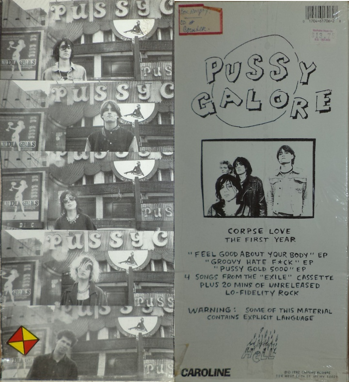 Pussy Galore - Corpse Love: The First Year (LONG BOX, US)