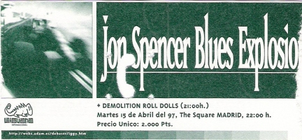 The Jon Spencer Blues Explosion - The Square, Madrid, Spain (15 April 1997)