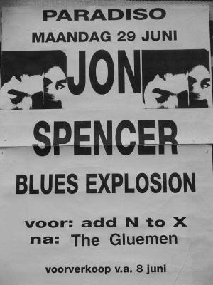 Jon Spencer Blues Explosion - Paradiso, Amsterdam, Netherlands (29 June 1998)