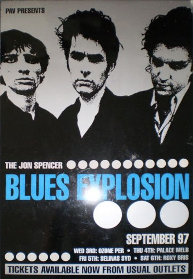 The Jon Spencer Blues Explosion - Australian Tour (POSTER, AUSTRALIA)