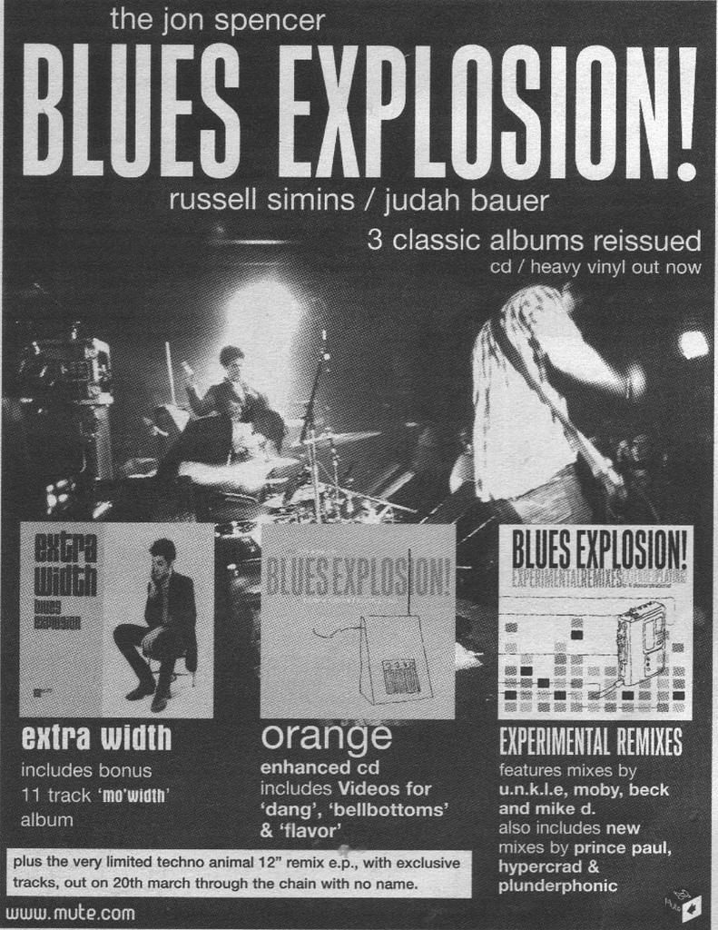 Jon Spencer Blues Explosion - Reissues (ADVERTISEMENT, UK)