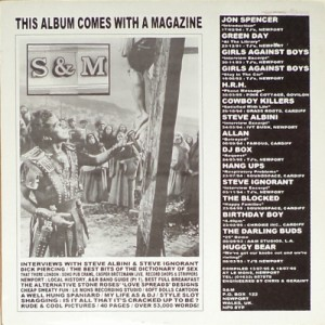 V/A feat. Jon Spencer - S&M (LP/MAGAZINE, UK) - Cover