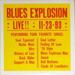 Jon Spencer Blues Explosion - LIVE!! 11-23-93 [Black] [#2] [Bootleg] (LP, US) - Cover
