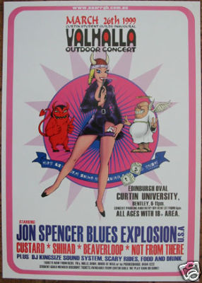 The Jon Spencer Blues Explosion - Valhalla, Edinburgh Oval, Curtin University, Perth, Australia (26 March 1999)