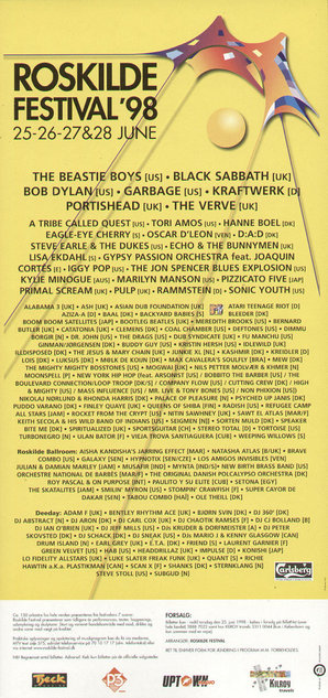 The Jon Spencer Blues Explosion - Roskilde Festival, Denmark (25-28 June 1998)