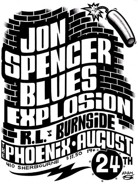 The Jon Spencer Blues Explosion - The Phoenix, Toronto, ON, Canada (2 4ugust 1995)